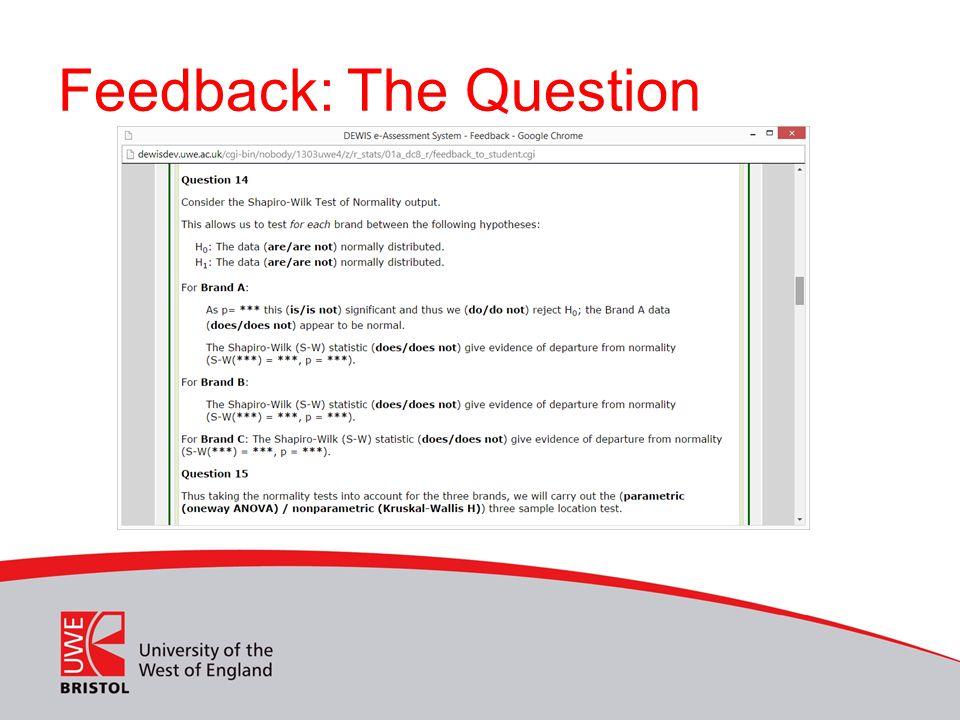 Feedback: The Question