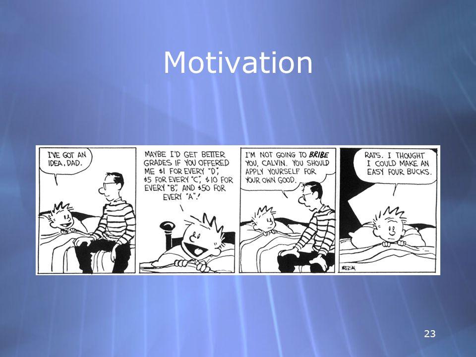23 Motivation