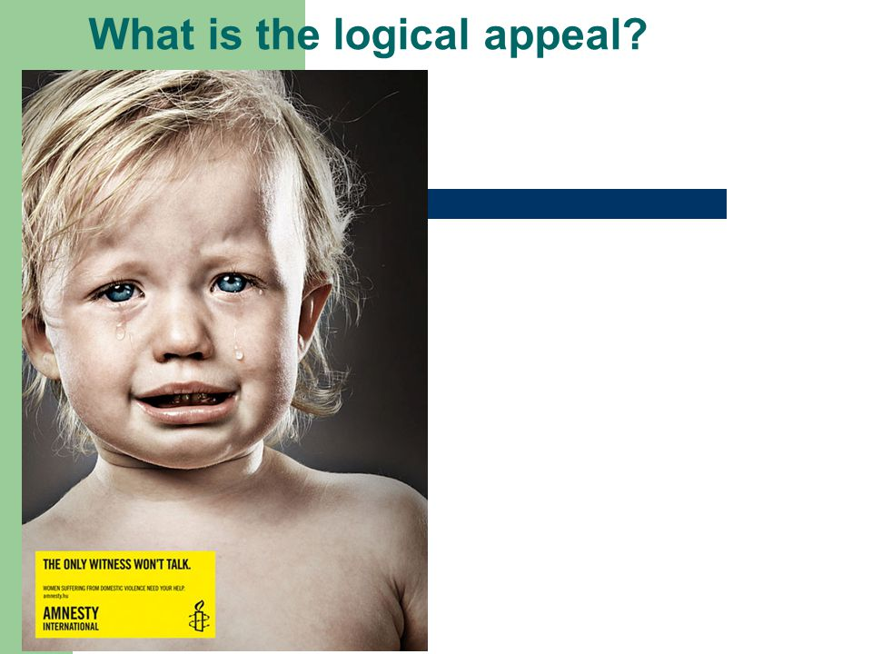 What is the logical appeal?