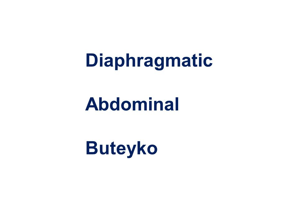 DiaphragmaticAbdominalButeyko