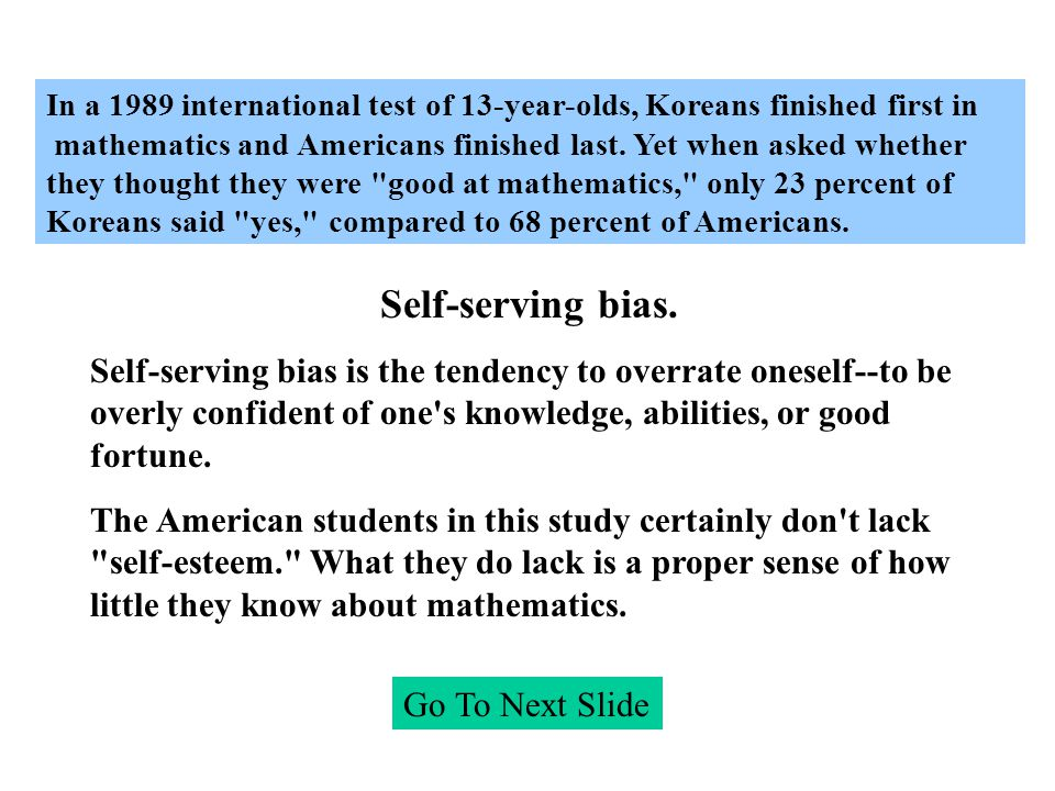 In a 1989 international test of 13-year-olds, Koreans finished first in mathematics and Americans finished last.