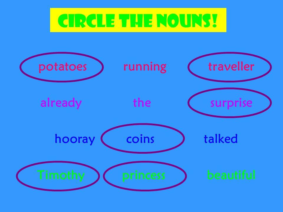 Circle the nouns.