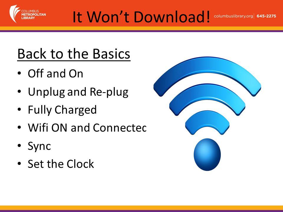 It Won't Download.