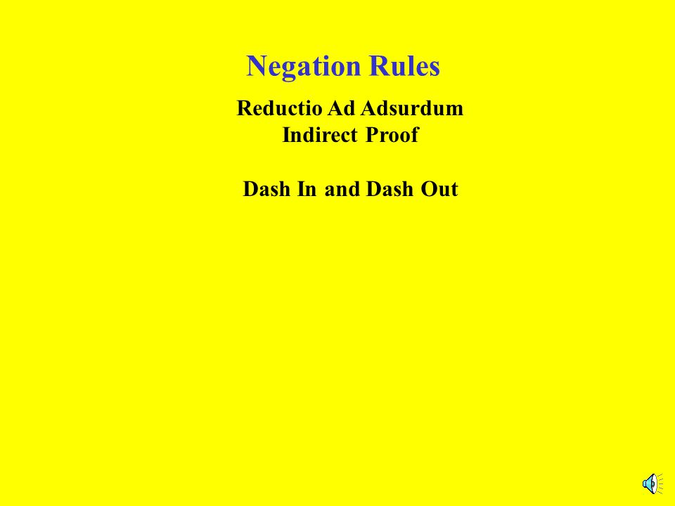 Negation Rules -In and -Out a.k.a.Reductio Ad Adsurdum or Indirect Proof A PA : ?&-.