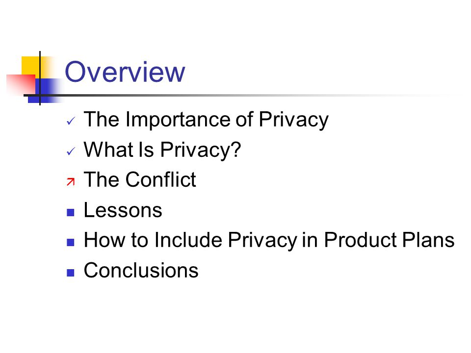 Overview The Importance of Privacy What Is Privacy.