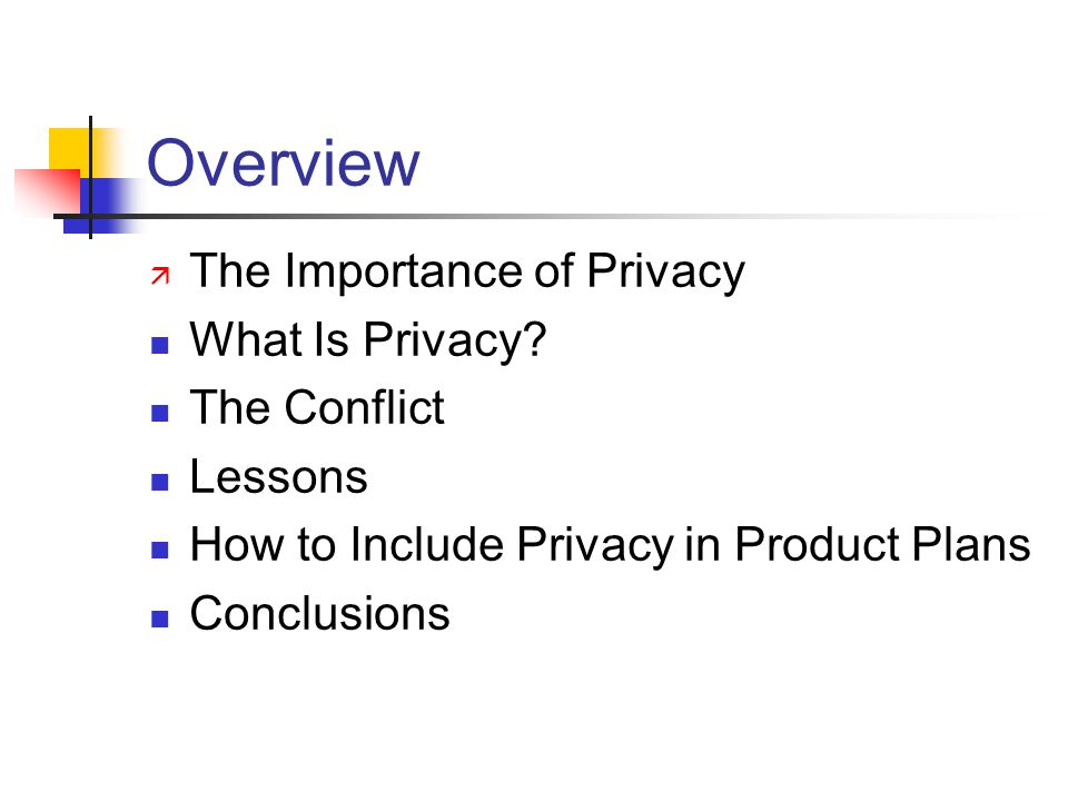 Overview ä The Importance of Privacy What Is Privacy.