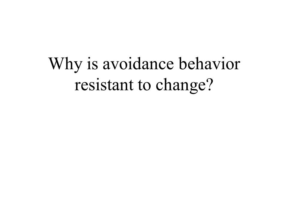 Why is avoidance behavior resistant to change?