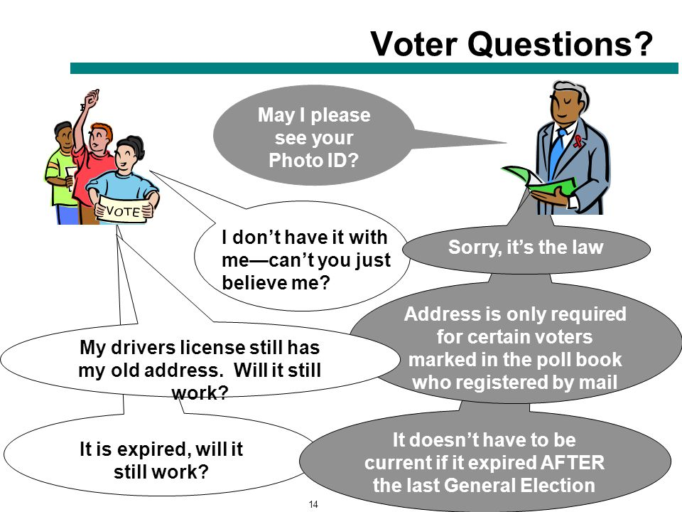 14 It is expired, will it still work. Voter Questions.