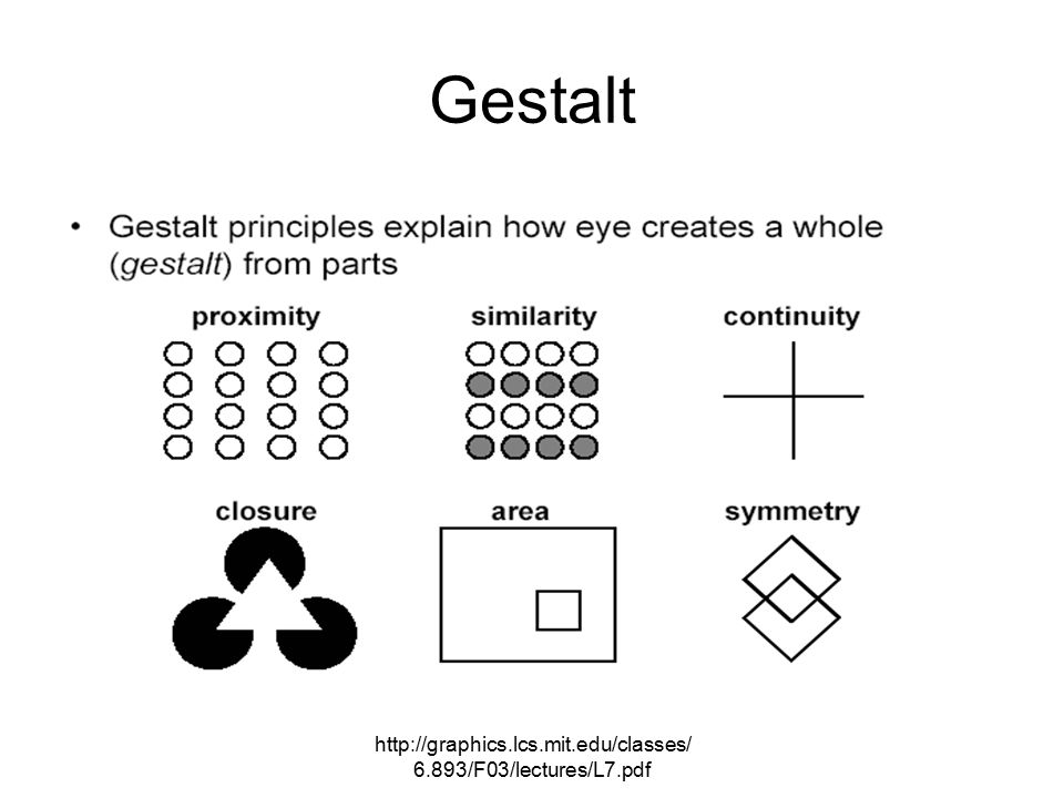 http://graphics.lcs.mit.edu/classes/ 6.893/F03/lectures/L7.pdf Gestalt