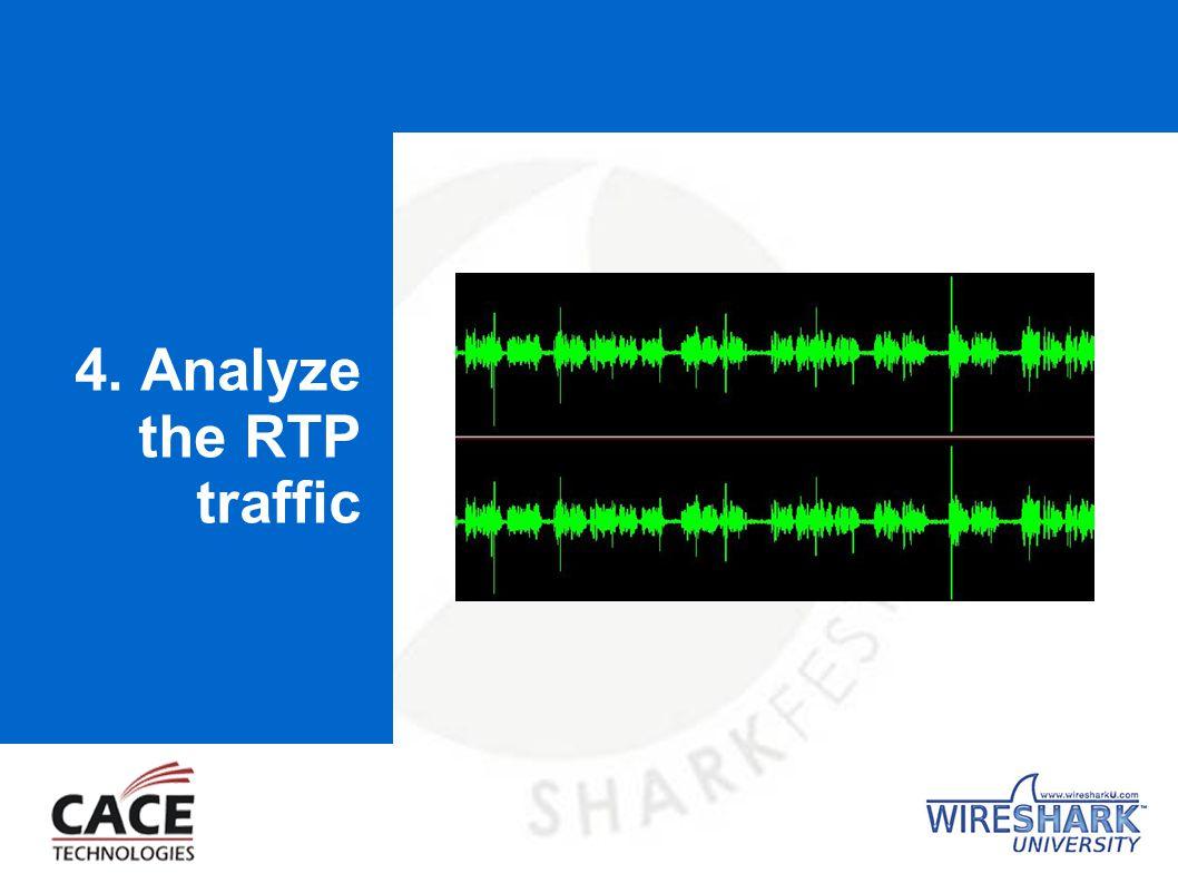 4. Analyze the RTP traffic