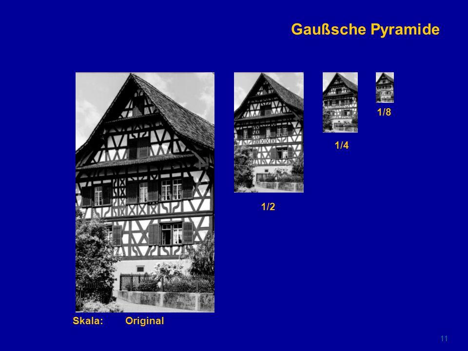 10 Gaußsche Glättung Skala:Original1.45.6