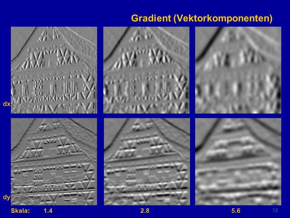 11 Gaußsche Pyramide Skala:Original 1/2 1/8 1/4