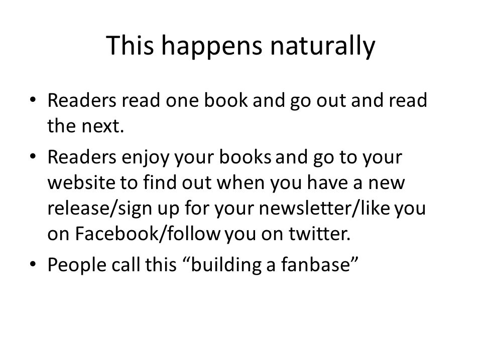 This happens naturally Readers read one book and go out and read the next.