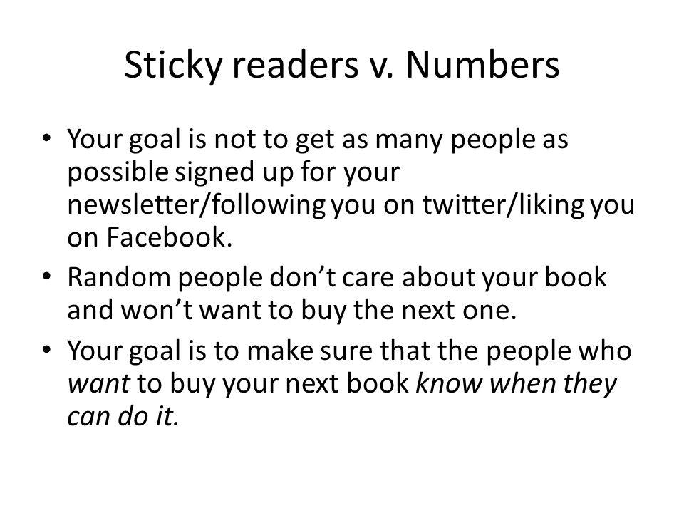 Sticky readers v.