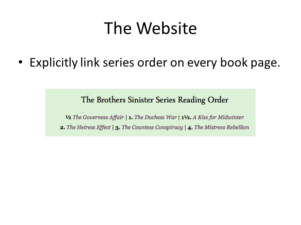 The Website Explicitly link series order on every book page.