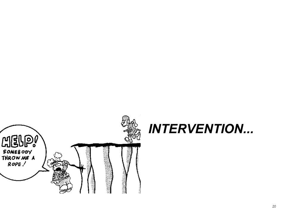 INTERVENTION... 20