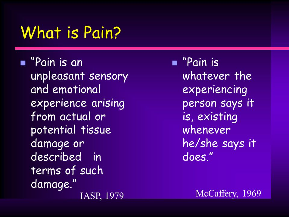 What is Pain.