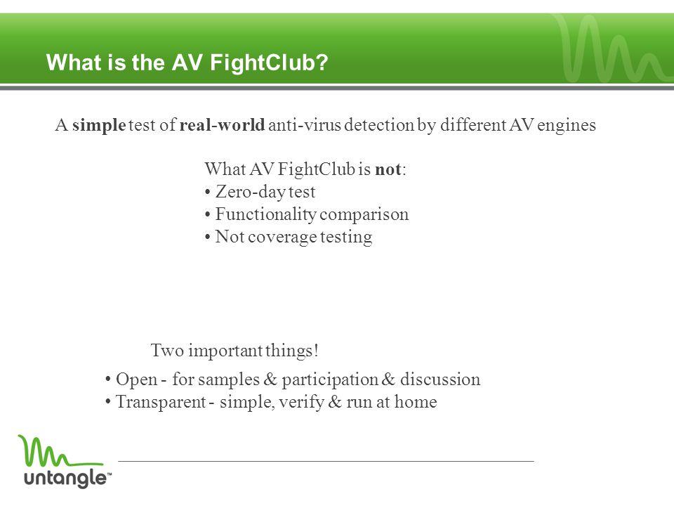 What is the AV FightClub.