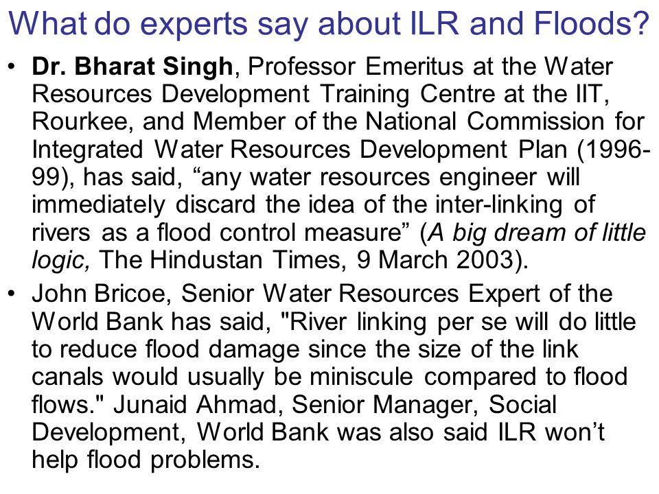 Can ILR help the drought areas.