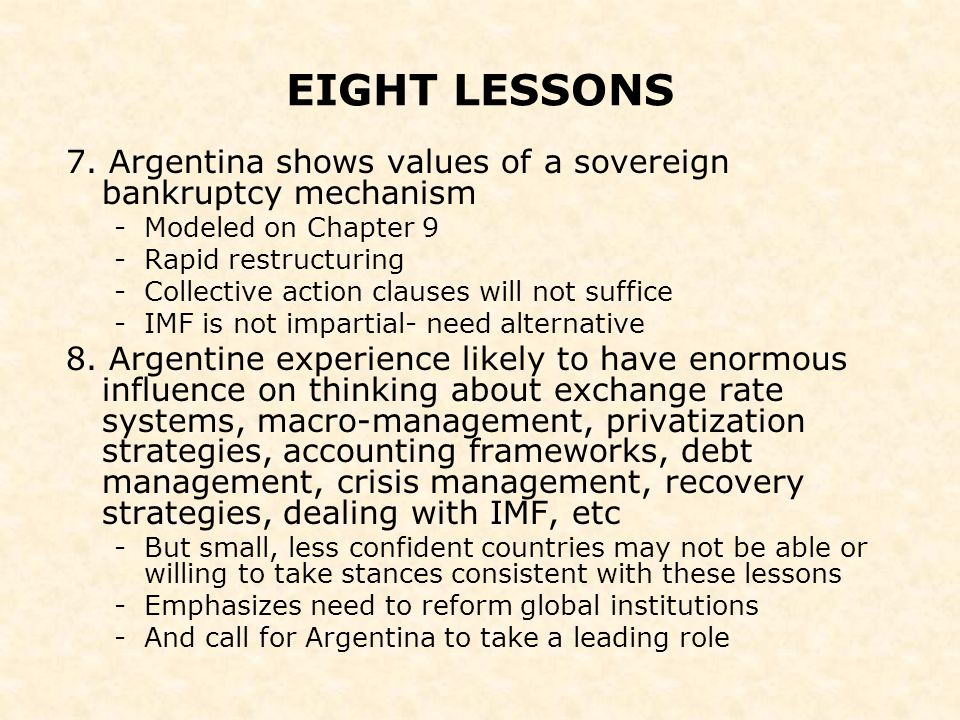 EIGHT LESSONS 7.