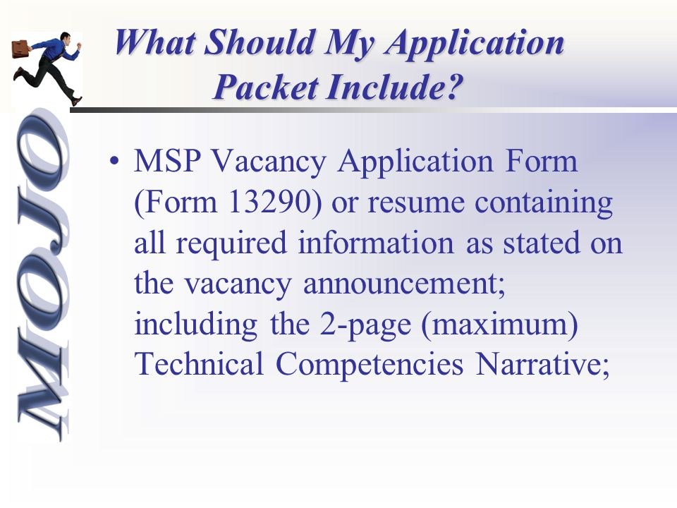 What Should My Application Packet Include.