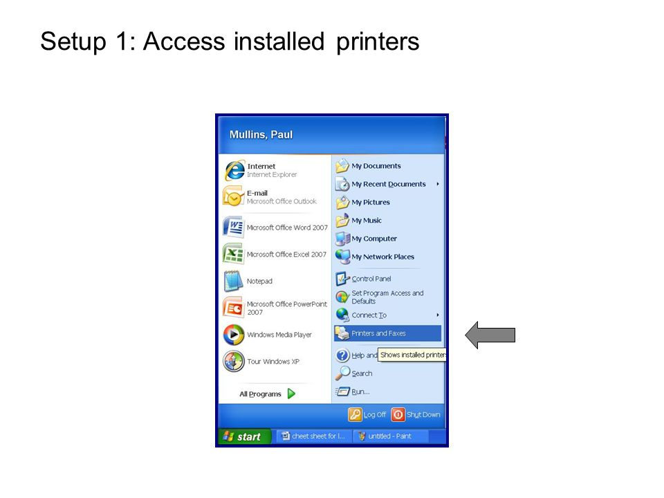 Setup 2: Right-click on the Ricoh MFP This is probably your default printer.