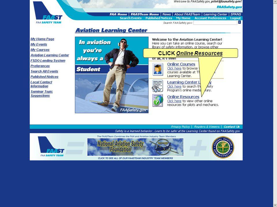 CLICK Online Resources