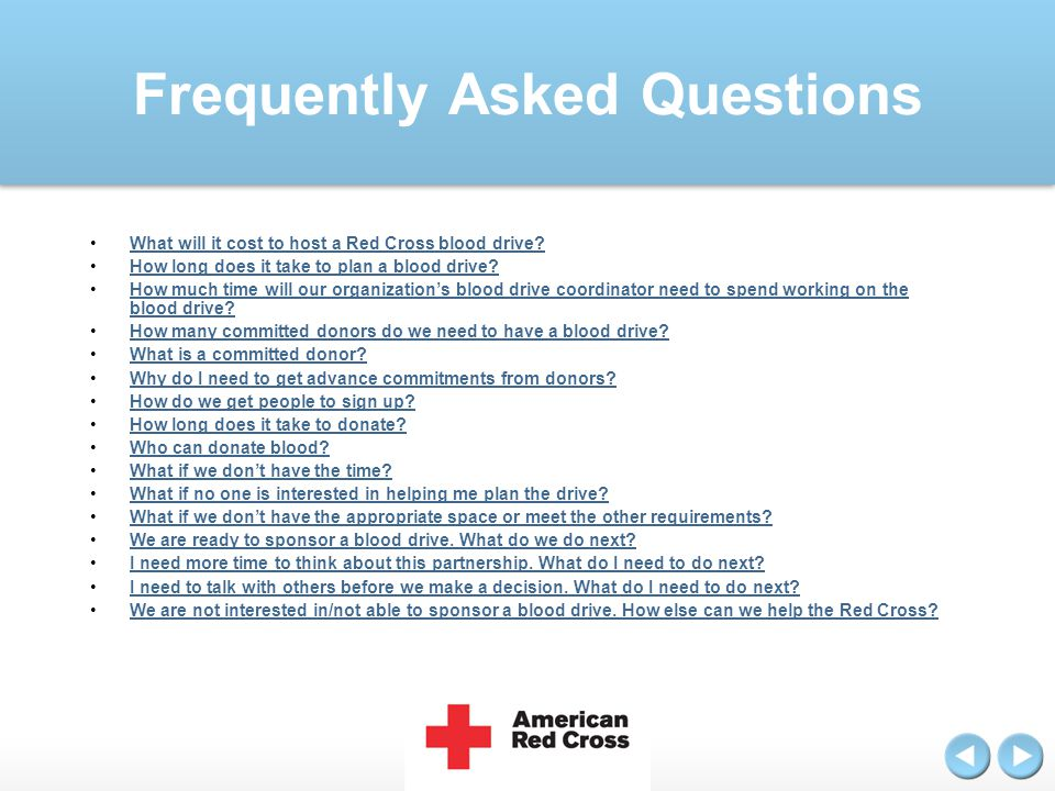 Question What will it cost to host a Red Cross blood drive?