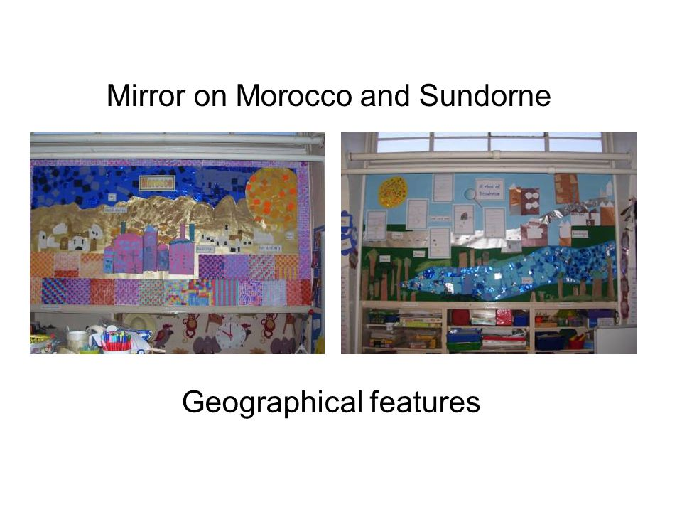 We read The Bachelor and the Bean – a Moroccan Tale. We made Moroccan pots and mosaics.