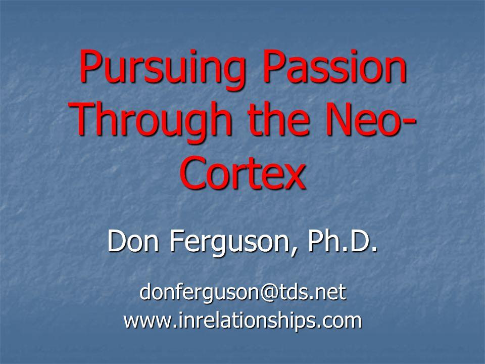 Pursuing Passion Through the Neo- Cortex Don Ferguson, Ph.D.
