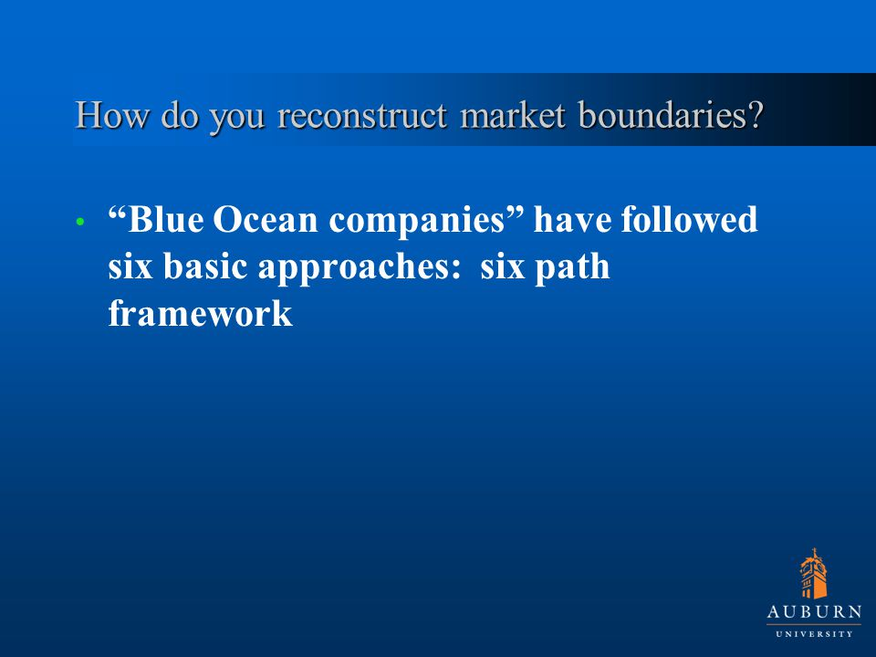 How do you reconstruct market boundaries.