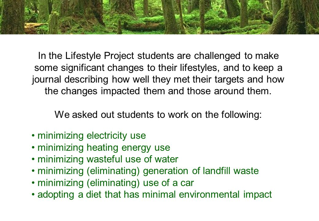 Participation in the project is voluntary.The alternative is a term paper.