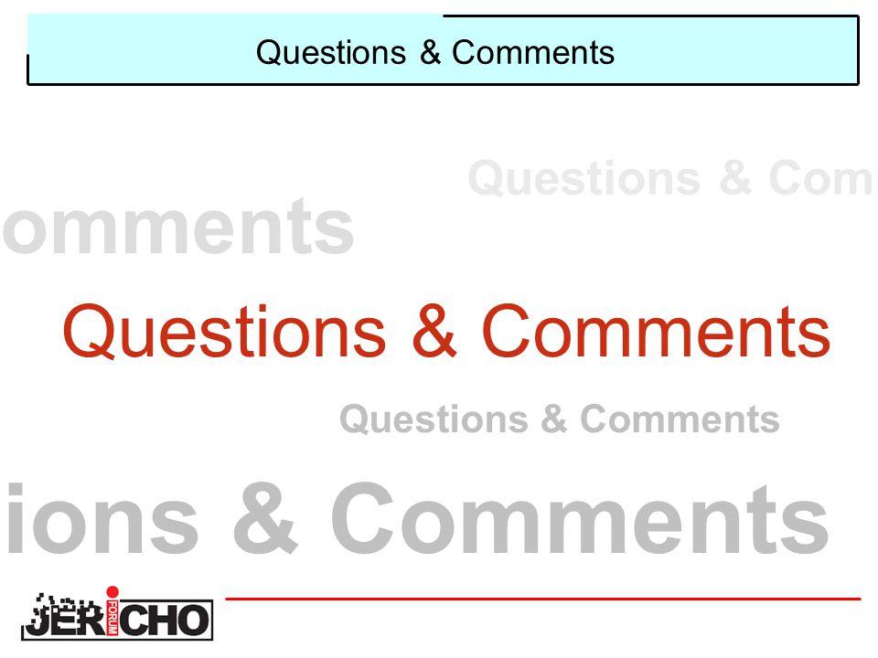 Questions & Comments ions & Comments Questions & Comments Questions & Com omments Questions & Comments