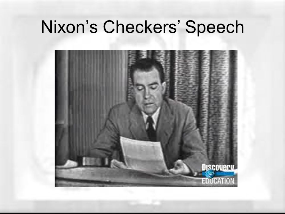 Nixon's Checkers' Speech