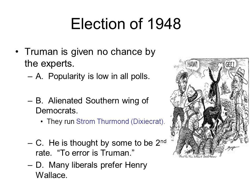 The Election of 1952 Democrats choose Illinois Governor Adlai Stevenson.