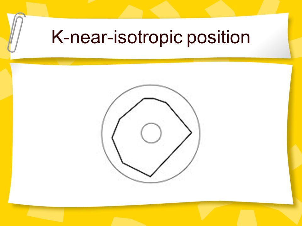 K-near-isotropic position