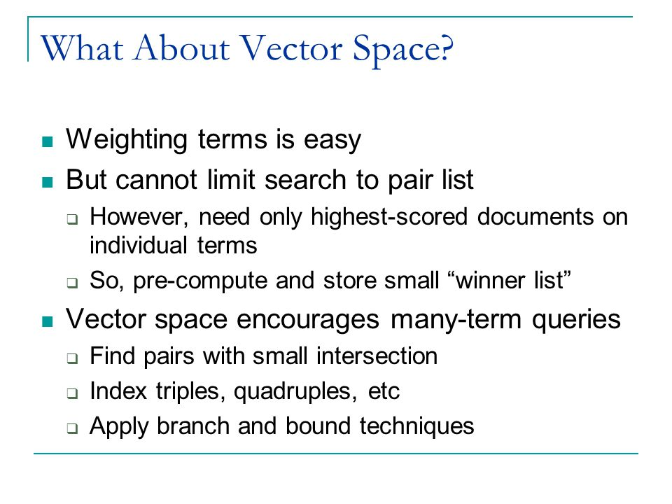 What About Vector Space.