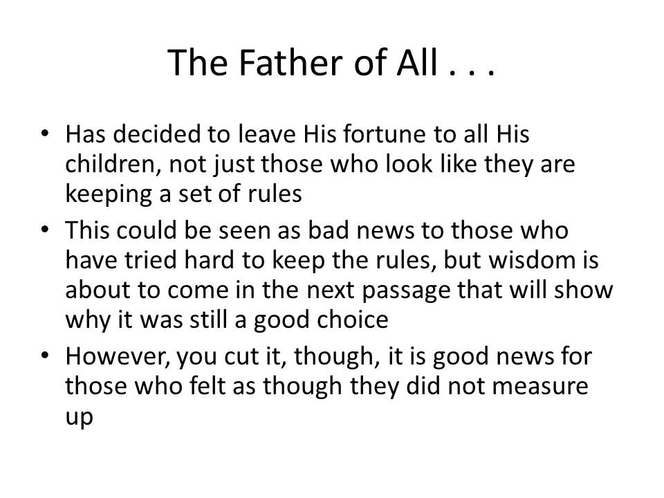 The Father of All...
