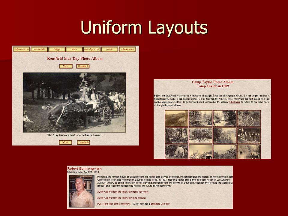 Uniform Layouts