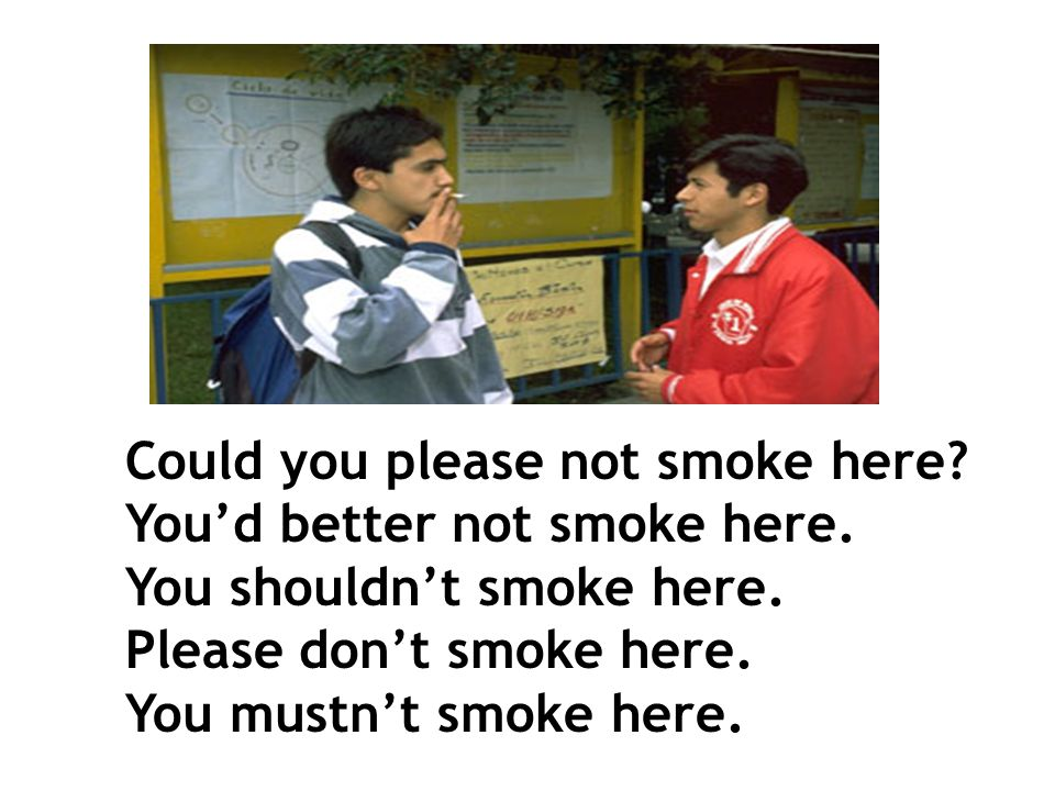 smoke If someone smokes in public, what would you say