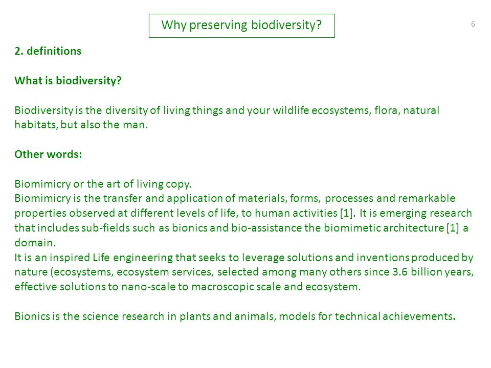 6 2.definitions What is biodiversity.