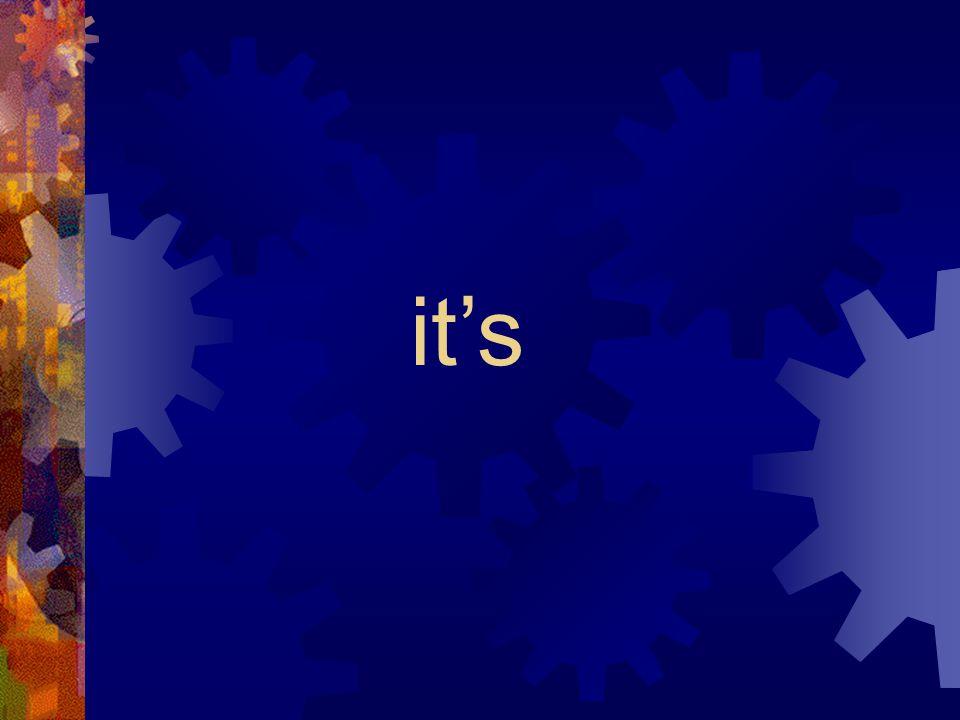 it is it's