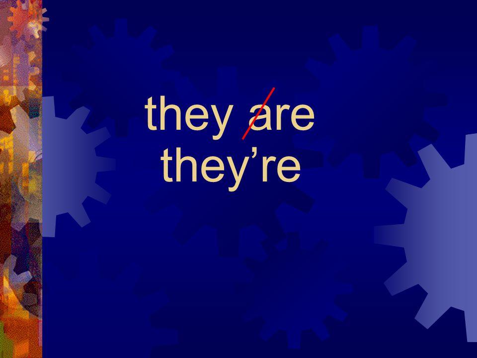 we're