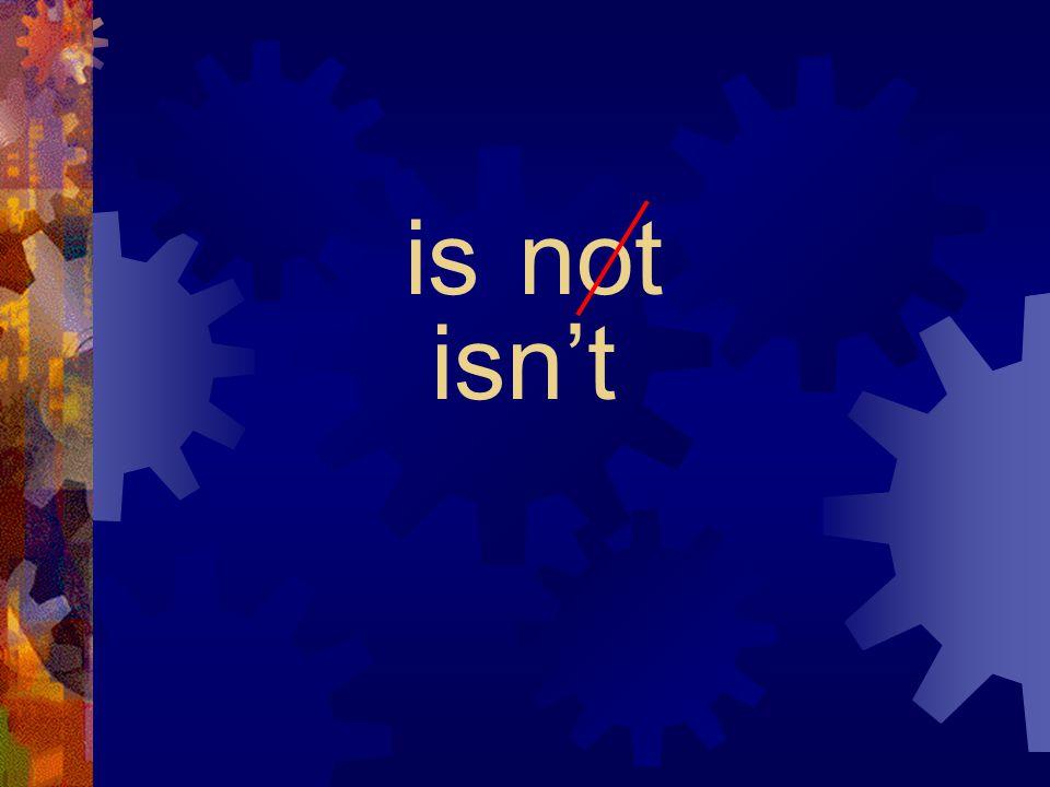 aren't
