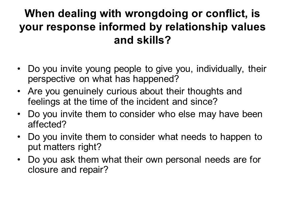 Informal group mediation/conference