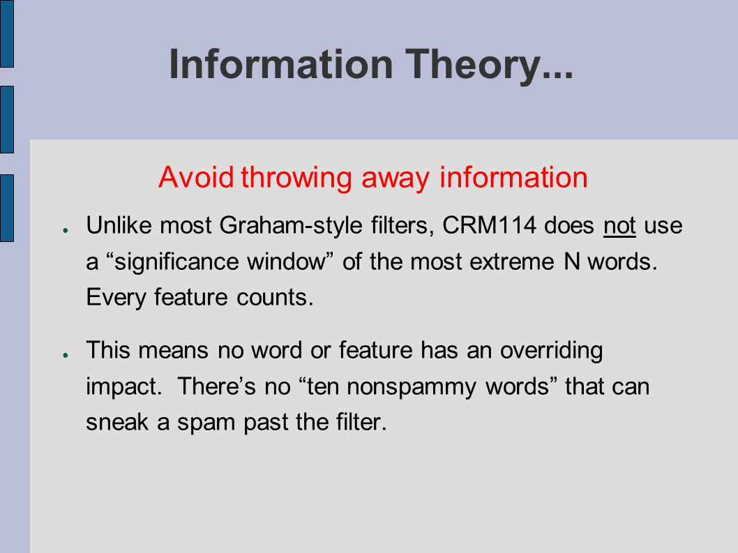 Information Theory...