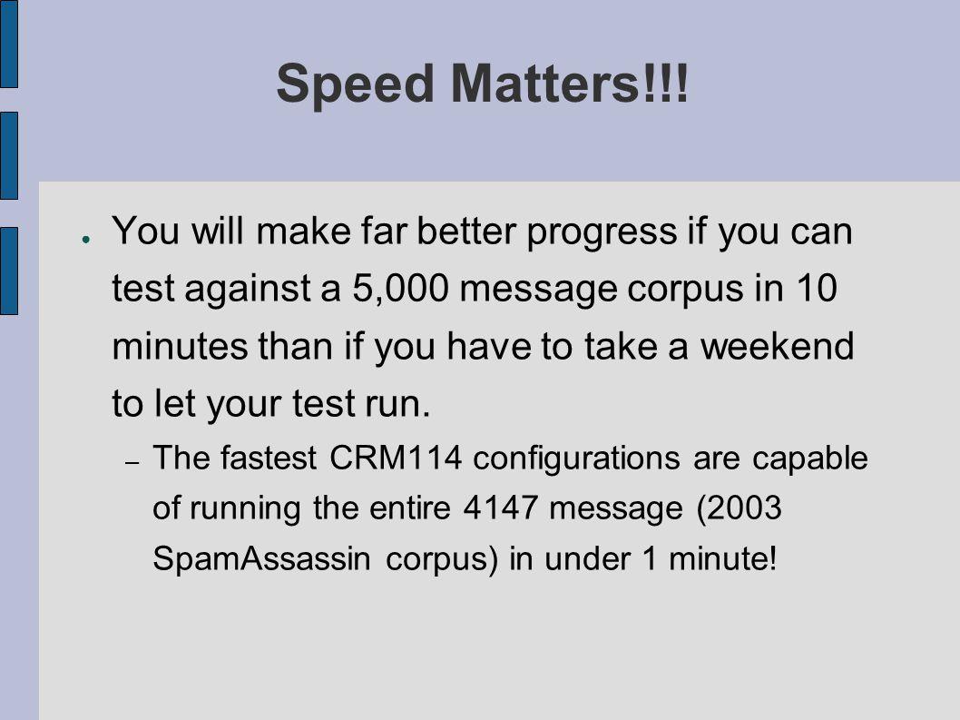 Speed Matters!!.