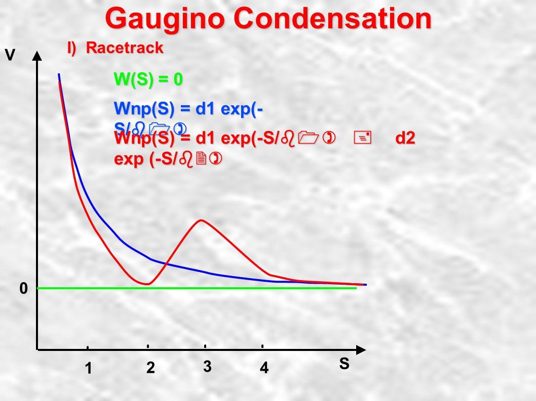 Gaugino Condensation V 0 L Mplanck Mw.
