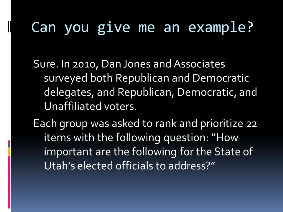That was in 2010, though -  Dan Jones repeated the survey in 2012 and asked the same questions to both delegates and active voters in both parties and of unaffiliated voters.