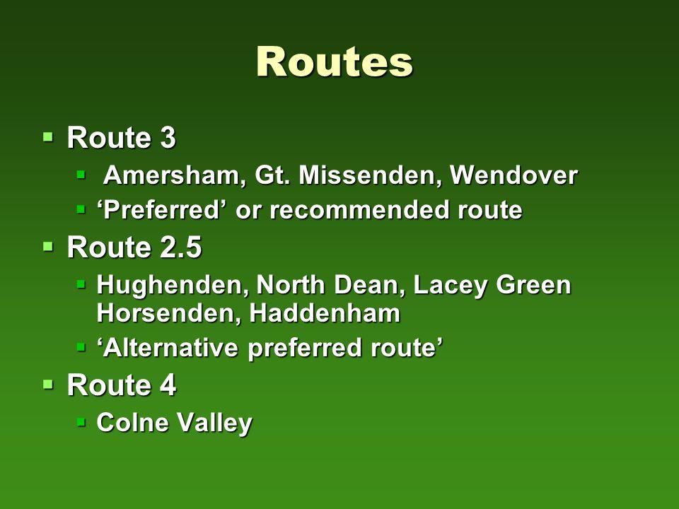 Routes  Route 3  Amersham, Gt.